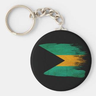 Bahamas Flag Key Ring