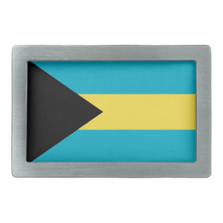 Bahamas Flag Rectangular Belt Buckle