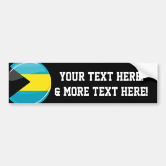Bahamas Flag Round and Glossy Bumper Sticker