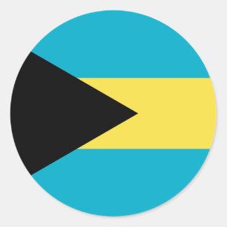 Bahamas Flag Round Stickers