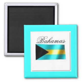 Bahamas Flag T-shirt And Etc Square Magnet
