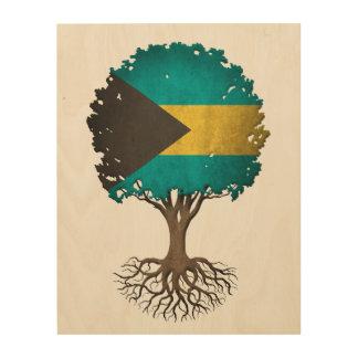 Bahamas Flag Tree of Life Customizable Wood Prints