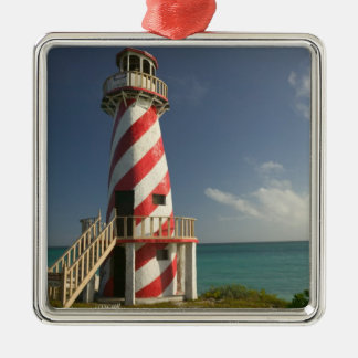 BAHAMAS, Grand Bahama Island, Eastern Side: Town Silver-Colored Square Decoration