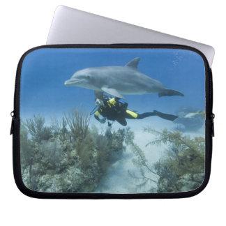 Bahamas, Grand Bahama Island, Freeport, Scuba Laptop Sleeve