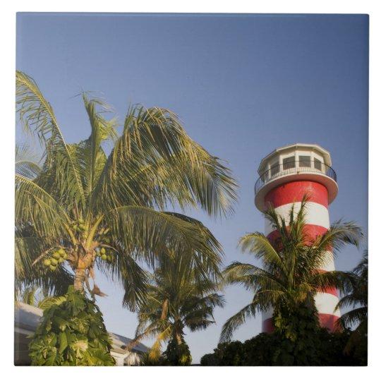 Bahamas, Grand Bahama Island, Freeport, Setting Large Square Tile