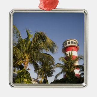 Bahamas, Grand Bahama Island, Freeport, Setting Silver-Colored Square Decoration