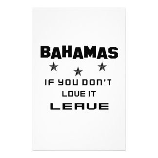 Bahamas If you don't love it, Leave Stationery Design