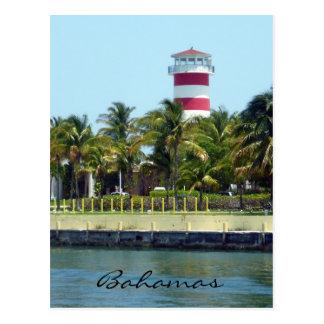 bahamas light house post card
