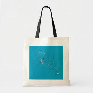 Bahamas Map Bag