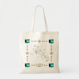 Bahamas Map + Flags Bag