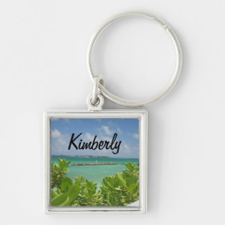 Bahamas Ocean  keychain with name