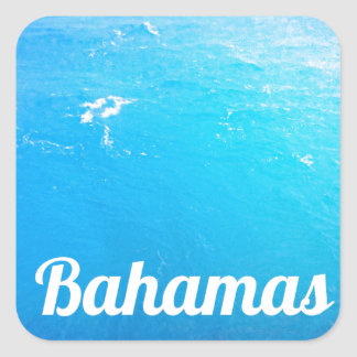 Bahamas Ocean Square Stickers