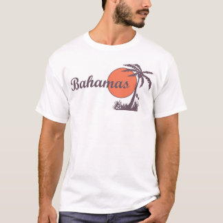 Bahamas Retro Tourist Palm Tee