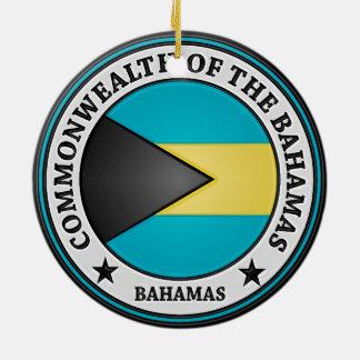 Bahamas Round Emblem Christmas Ornament