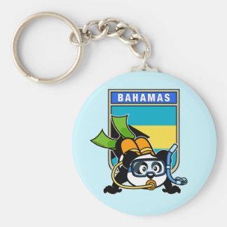 Bahamas Scuba Panda Key Chains