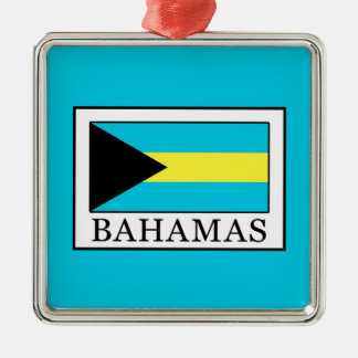 Bahamas Silver-Colored Square Decoration