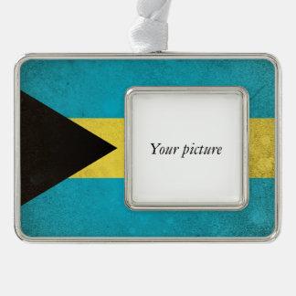 Bahamas Silver Plated Framed Ornament