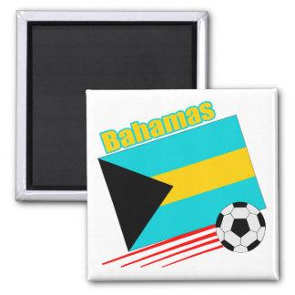 Bahamas Soccer Team Square Magnet