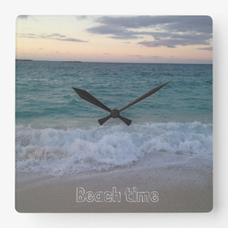 Bahamas sunset clock