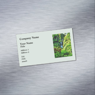Bahamas - Tropical Waterfall Magnetic Business Cards