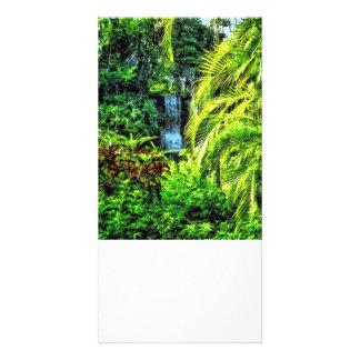 Bahamas - Tropical Waterfall Personalised Photo Card