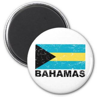 Bahamas Vintage Flag 6 Cm Round Magnet