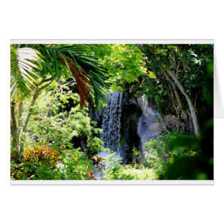 Bahamas Waterfall Card