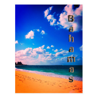 Bahamian Beach Postcard