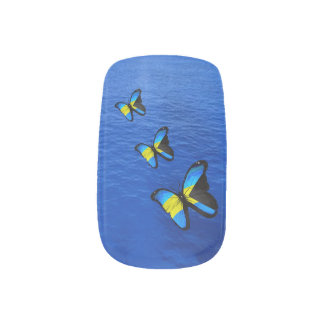 Bahamian Butterfly Minx Nail Art Decals