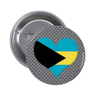 Bahamian Flag on a cloudy background 2 Inch Round Button