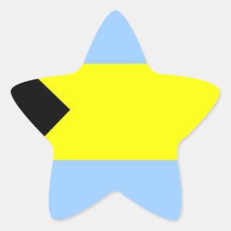 Bahamian Flag Star Sticker
