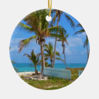Bahamian Palms Christmas Ornament
