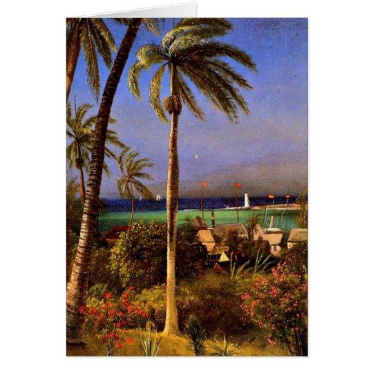Bahamian View, Albert Bierstadt painting Card