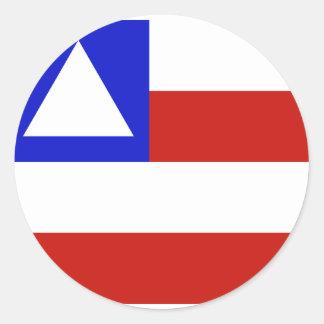 Bahia, Brazil flag Round Sticker
