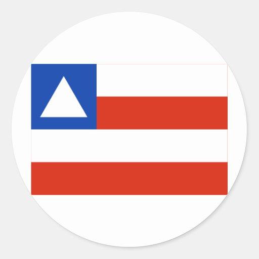 Bahia, Brazil Flag Round Stickers
