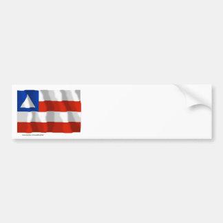 Bahia, Brazil Waving Flag Bumper Sticker