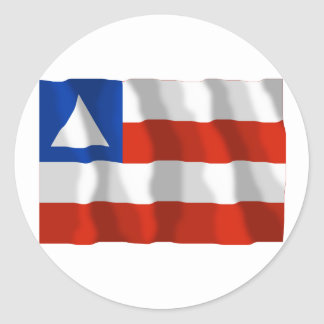 Bahia, Brazil Waving Flag Round Sticker