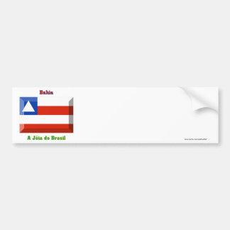 Bahia Flag Gem Bumper Sticker