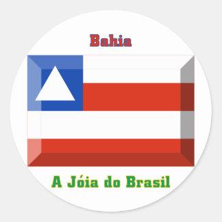 Bahia Flag Gem Round Sticker