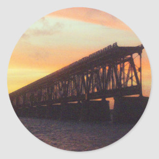 Bahia Honda Rail Bridge Round Sticker