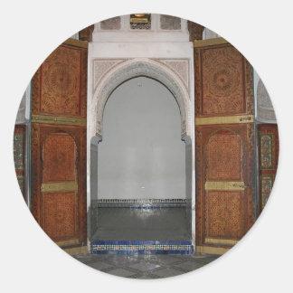 Bahia palace ...a door round sticker