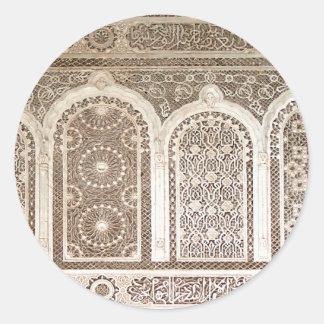 Bahia Palace details Round Sticker