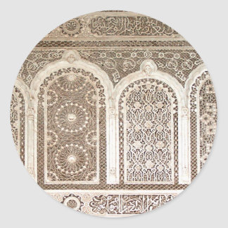 Bahia Palace details Classic Round Sticker
