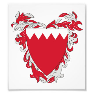 Bahrain Coat Of Arms Art Photo