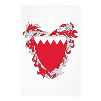 Bahrain Coat of Arms Personalized Stationery
