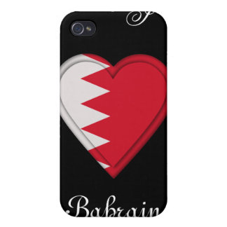 Bahrain Flag: ADD TEXT iPhone 4 Cover