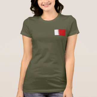 Bahrain Flag and Map dk T-Shirt