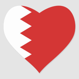 Bahrain Flag Heart Sticker