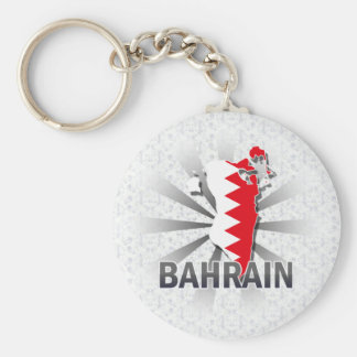 Bahrain Flag Map 2.0 Key Ring