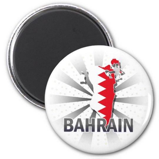 Bahrain Flag Map 2.0 Magnet